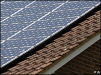 Solar panels on a roof (Image: PA)