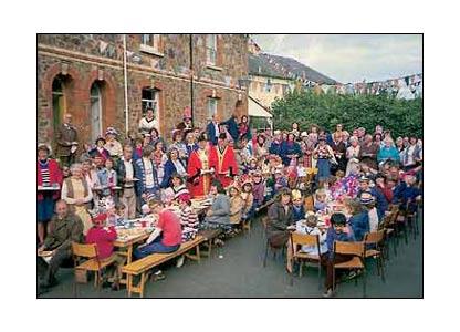Silver Jubilee street party, Totnes, Devon