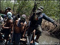 Mend militants from Nigeria's Delta