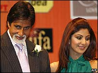 Amitabh Bachchan and Shilpa Shetty