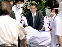 The body of Agriculture, Forestry and Fisheries Minister Katutoshi Matsuoka, 28/05/2007