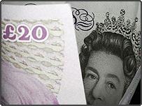 A twenty pound note