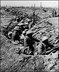British infantrymen during the Battle of the Somme
