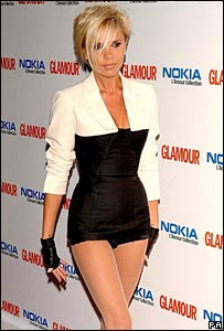 Victoria Beckham attends Glamour awards in Chanel outfit