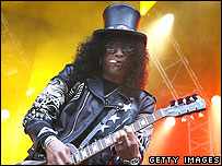 Slash on stage in Germany