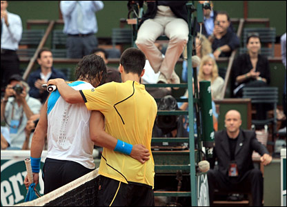 Rafael Nadal and Novak Djokovic