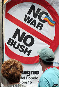 Anti-Bush poster in Rome