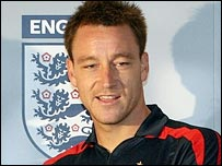 England captain John Terry - who will be donating his match fees to charity