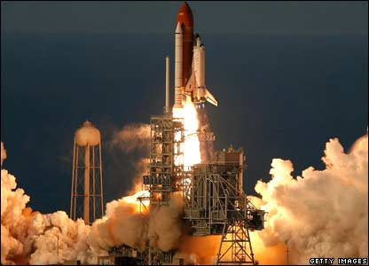 Atlantis lifts off from launch.