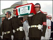 Funeral in Izmir of soldier killed near Sirnak, 25 May 2007
