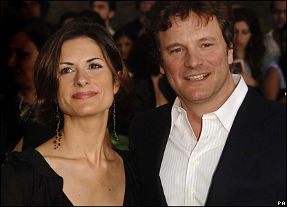British actor Colin Firth and his wife Livia