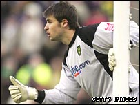 David Marshall in action while on loan with Norwich