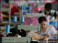 Women in a Chinese textile factory