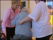 Pensioner in care