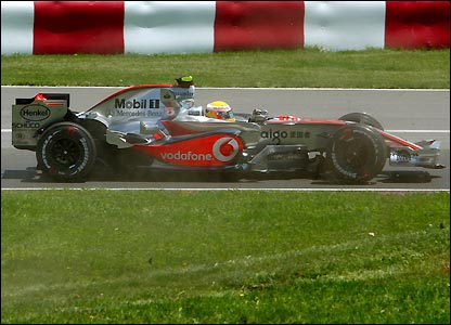 Lewis Hamilton on his way to victory