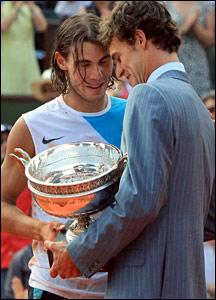 Rafael Nadal and Gustavo Kuerten