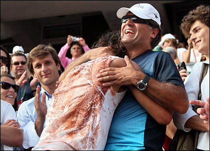 Rafael Nadal and his uncle Toni Nadal