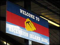 Ascension Island Base sign
