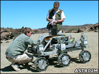 Rover chassis testbed (Astrium)