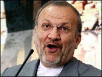 وزير الخارجية الايراني منوشهر متكي