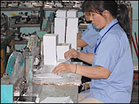 Workers at Lekit Stationery