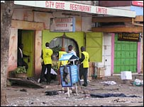 Scene of the blast in Nairobi