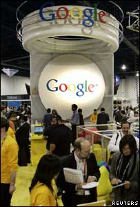 Google stand at conference, Reuters