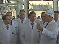 Sergei Ivanov visiting academy of sciences in Siberia