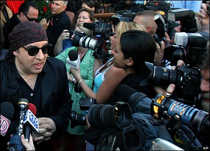 Steven Van Zandt being interviewed by journalists