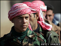 Sunni Arab recruits to the Iraqi army