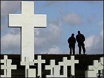 Cementerio en las Falklands/Malvinas.
