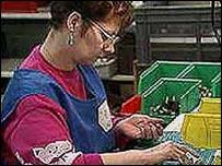 A female worker