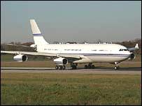 Prince Bandar's plane. Copyright Joel Vogt
