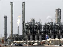 Oil refinery in Iran