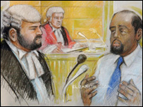 Muktar Ibrahim being questioned by George Carter-Stephenson QC