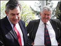 Gordon Brown and Rhodri Morgan