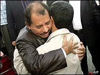 Daniel Ortega, mandatario de Nicaragua, y Mahmud Ahmadinejad, presidente de Irán