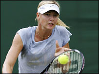 Maria Sharapova training in Birmingham