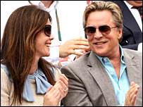 Don Johnson and wife Kelley Phleger at the French Open
