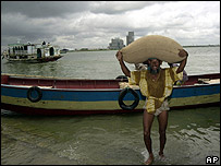 Flood victim in Bangladesh