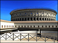 3D image of the Colosseum