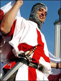 England fan dressed as a knight