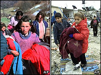 Kosovo Albanians and Gazans abandon their homes (1999 and 2006)