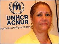 Flor Rojas, representante de ACNUR