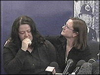 Pc Henry's widow Mary and his sister Georgina