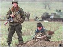 Russian troops in Chechnya