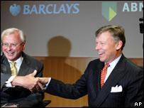 ABN chairman Rijkman Groenink and Barclays boss John Varley
