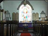 Inside of Pennal Church