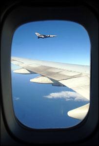 RAF Tornado escorts flight from UK