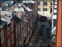 Building collapse in central London